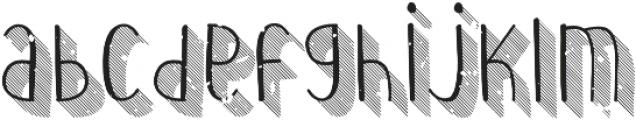 Wilhemina striped 3d grungy otf (400) Font LOWERCASE