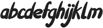 Willful otf (400) Font LOWERCASE