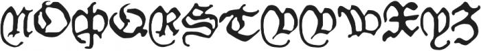 Willie_Caxton otf (400) Font UPPERCASE