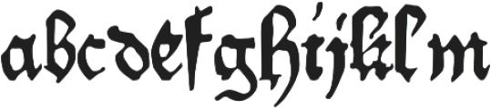 Willie_Caxton otf (400) Font LOWERCASE