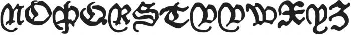 Willie_Caxton otf (700) Font UPPERCASE