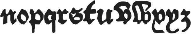 Willie_Caxton otf (700) Font LOWERCASE