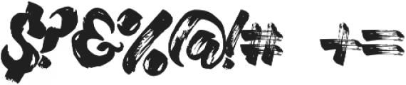 Willow Brush font Regular otf (400) Font OTHER CHARS