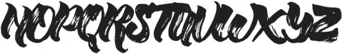 Willow Brush font Regular otf (400) Font UPPERCASE