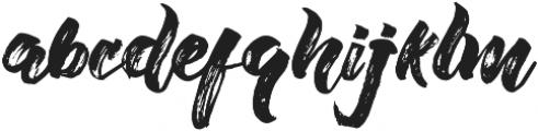 Willow Brush font Regular otf (400) Font LOWERCASE