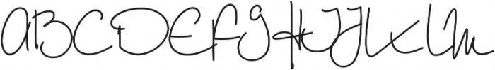 Willow Wisp otf (400) Font UPPERCASE