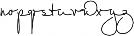 Willow Wisp otf (400) Font LOWERCASE