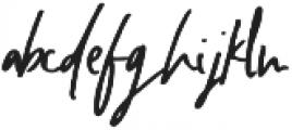 Wincior Regular ttf (400) Font LOWERCASE