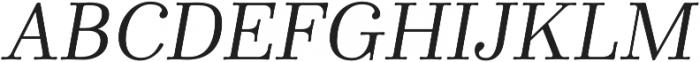Winslow Book Regular Italic otf (400) Font UPPERCASE