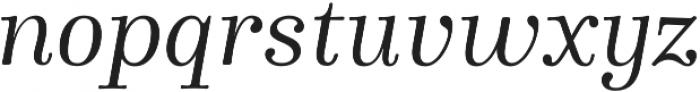 Winslow Book Regular Italic otf (400) Font LOWERCASE