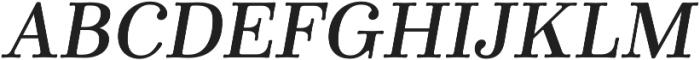 Winslow Book SemiBold Italic otf (400) Font UPPERCASE