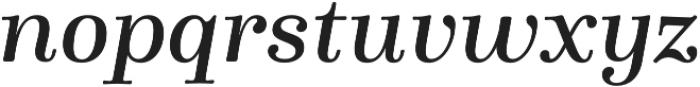 Winslow Book SemiBold Italic otf (400) Font LOWERCASE