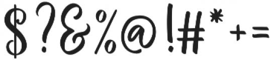 Winter Flowers Script Regular otf (400) Font OTHER CHARS