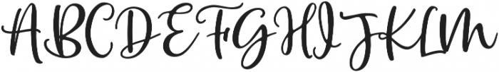 Winter Flowers Script Regular otf (400) Font UPPERCASE