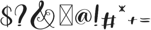 Winter Time Script Regular otf (400) Font OTHER CHARS