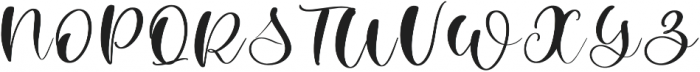Winter Time Script Regular otf (400) Font UPPERCASE
