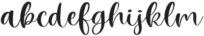 Winter Time Script Regular otf (400) Font LOWERCASE