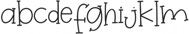 Winterland otf (400) Font LOWERCASE