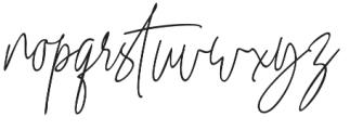 Winterous Slant otf (400) Font LOWERCASE