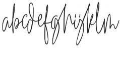 Winterous otf (400) Font LOWERCASE