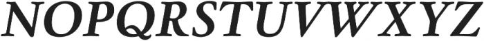 Winthorpe Bold Italic otf (700) Font UPPERCASE