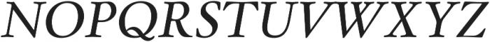 Winthorpe Italic otf (400) Font UPPERCASE