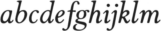 Winthorpe Italic otf (400) Font LOWERCASE