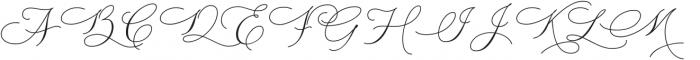 WisteriaNotes-Regular otf (400) Font UPPERCASE