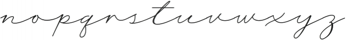 WisteriaNotes-Regular otf (400) Font LOWERCASE