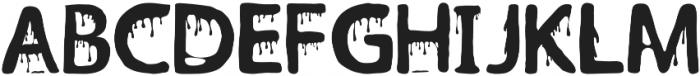 Witchblood Regular otf (400) Font UPPERCASE
