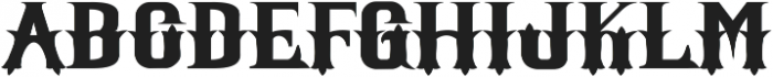 Witham Solid otf (400) Font UPPERCASE
