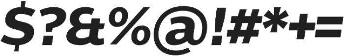 Without Alt Sans Bold Italic otf (700) Font OTHER CHARS
