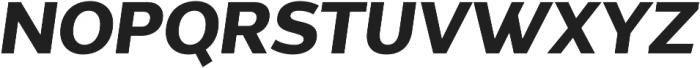 Without Alt Sans Bold Italic otf (700) Font UPPERCASE