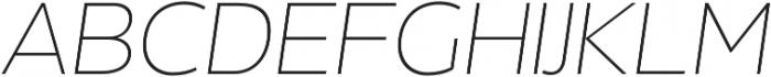 Without Alt Sans Extralight Italic otf (200) Font UPPERCASE