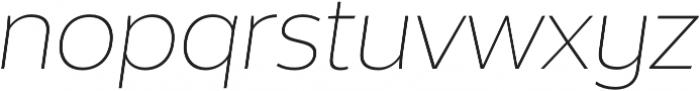 Without Alt Sans Extralight Italic otf (200) Font LOWERCASE