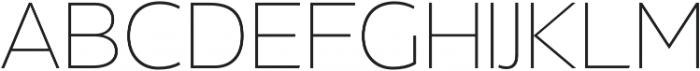 Without Alt Sans Extralight otf (200) Font UPPERCASE