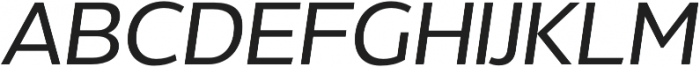 Without Alt Sans Medium Italic otf (500) Font UPPERCASE