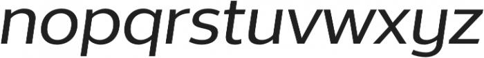 Without Alt Sans Medium Italic otf (500) Font LOWERCASE