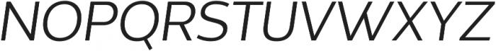Without Alt Sans Regular Italic otf (400) Font UPPERCASE