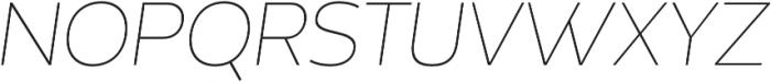 Without Alt Sans Thin Italic otf (100) Font UPPERCASE