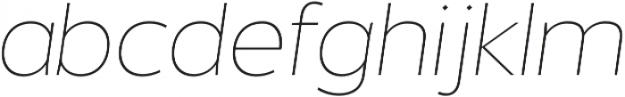 Without Alt Sans Thin Italic otf (100) Font LOWERCASE