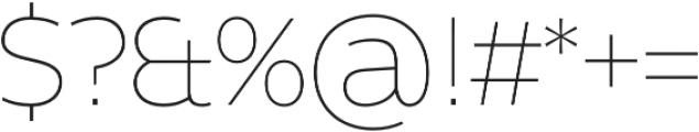 Without Alt Sans Thin otf (100) Font OTHER CHARS