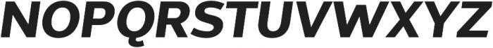 Without Sans Bold Italic otf (700) Font UPPERCASE