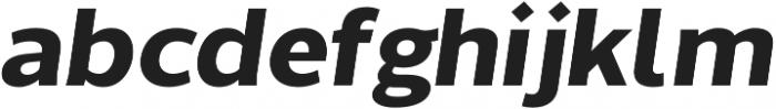 Without Sans Bold Italic otf (700) Font LOWERCASE