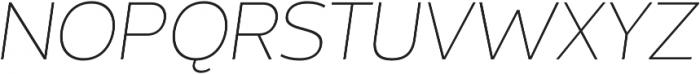 Without Sans Extralight Italic otf (200) Font UPPERCASE