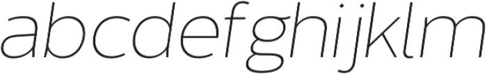 Without Sans Extralight Italic otf (200) Font LOWERCASE