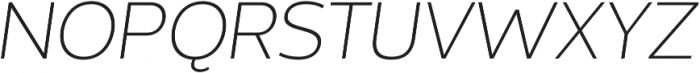 Without Sans Light Italic otf (300) Font UPPERCASE