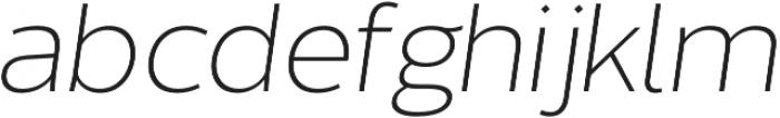 Without Sans Light Italic otf (300) Font LOWERCASE