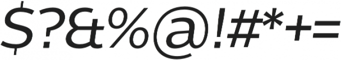 Without Sans Medium Italic otf (500) Font OTHER CHARS