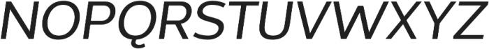 Without Sans Medium Italic otf (500) Font UPPERCASE